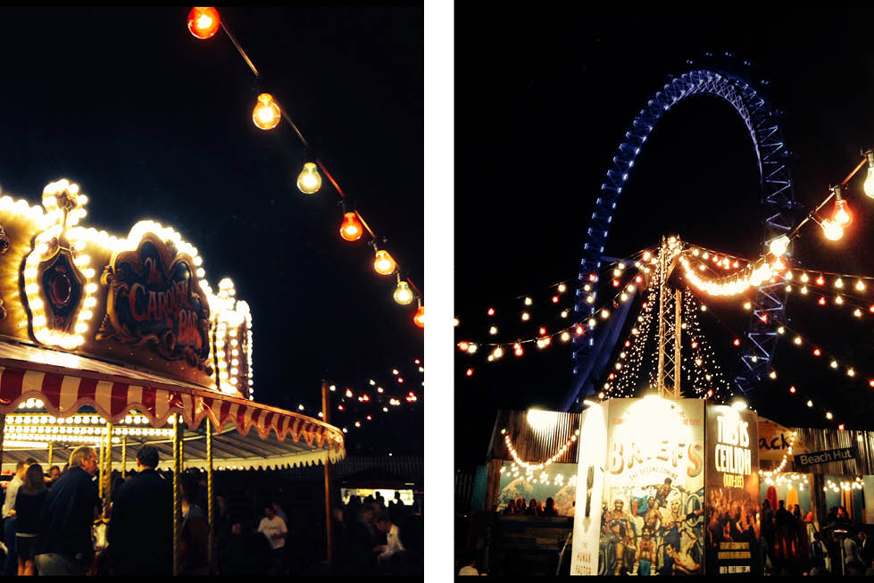 London Wonderground at Southbank Centre night