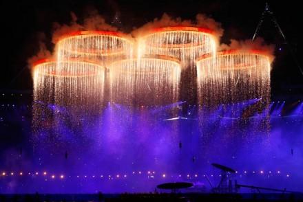 London Olympic rings