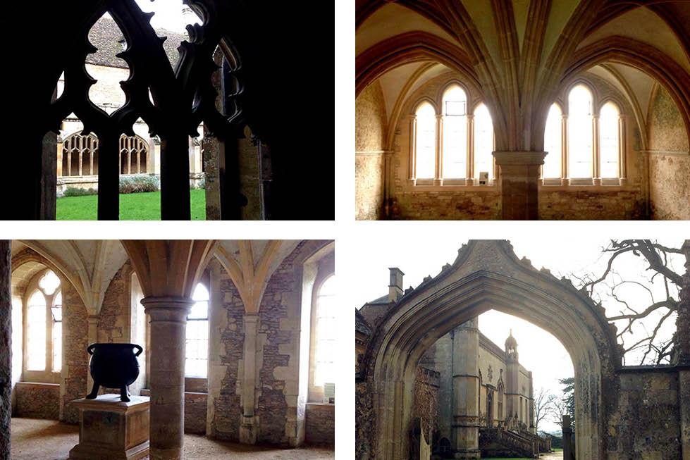 Lacock grounds Wiltshire