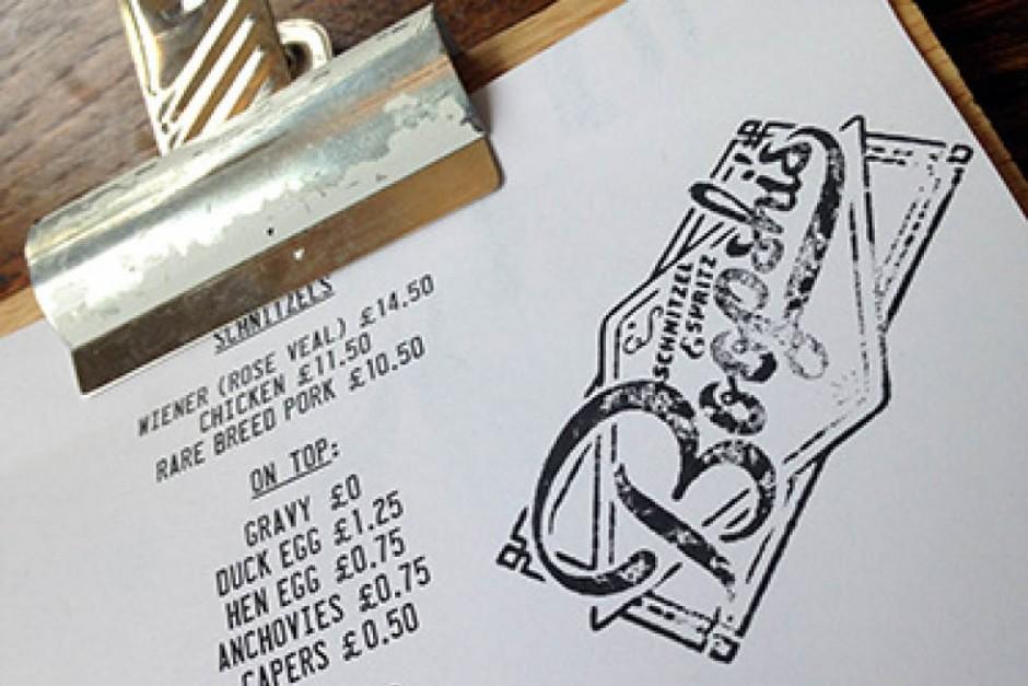 Boopshi's Schnitzel & Spritz menu