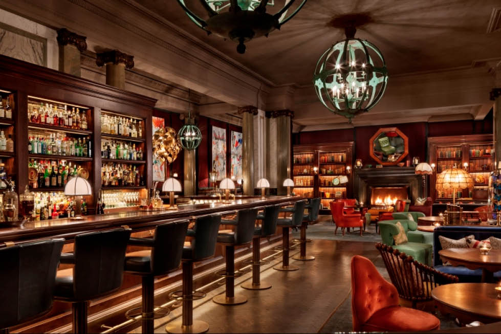 Scarfes Bar at the Rosewood Hotel, West End