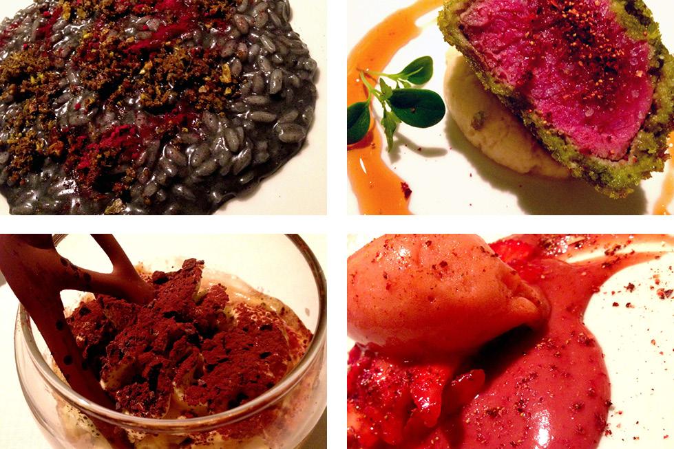 Ora d'Aria restaurant Florence, Italy mains