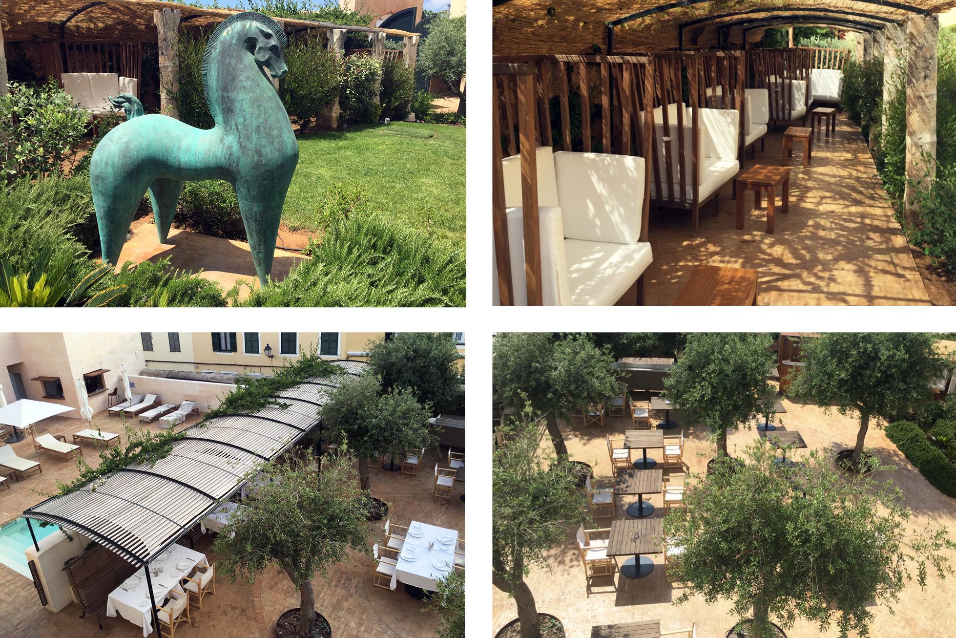 Hotel Can Faustino Menorca gardens