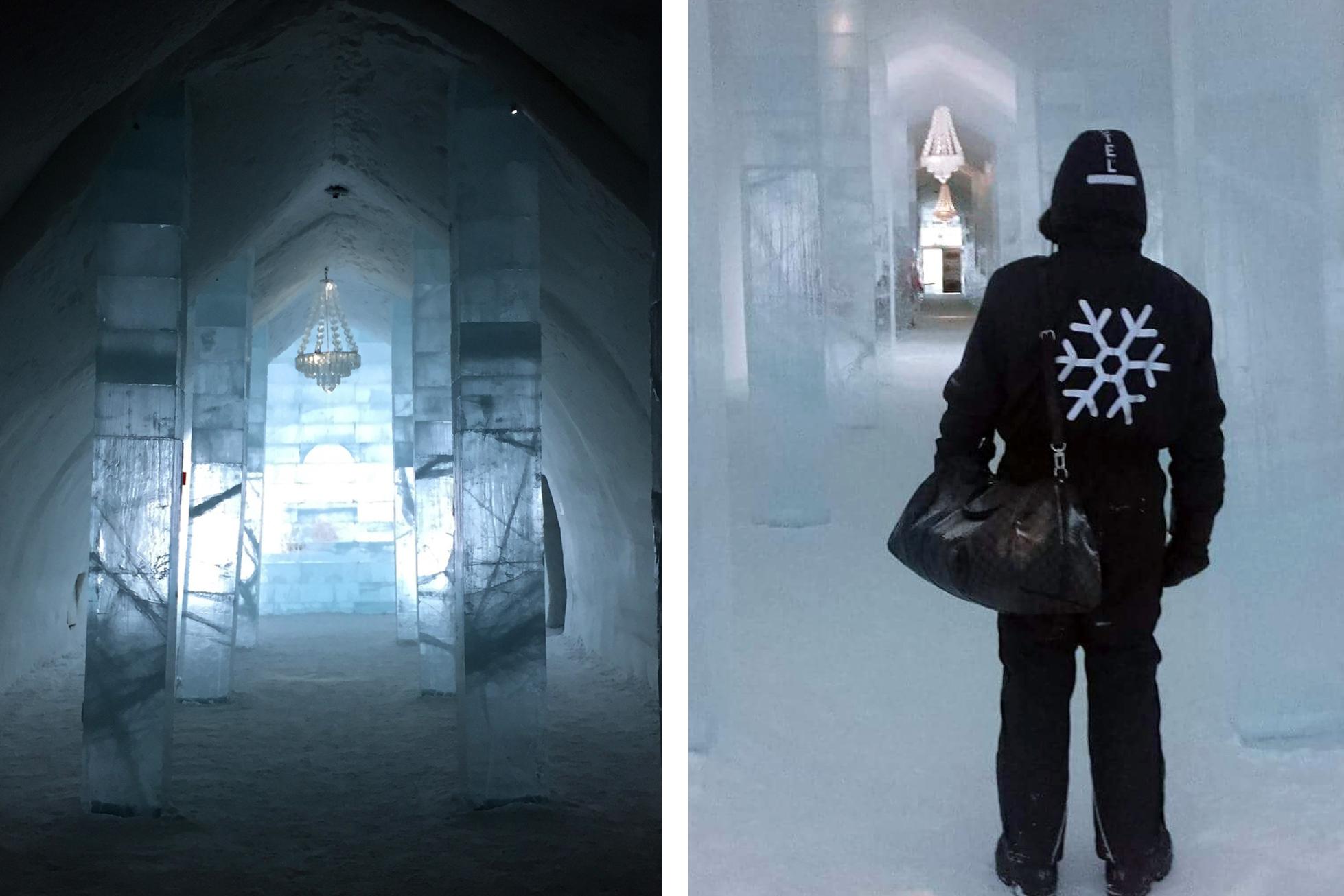 ICEHOTEL sweden hallway