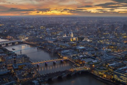 Shard view of London