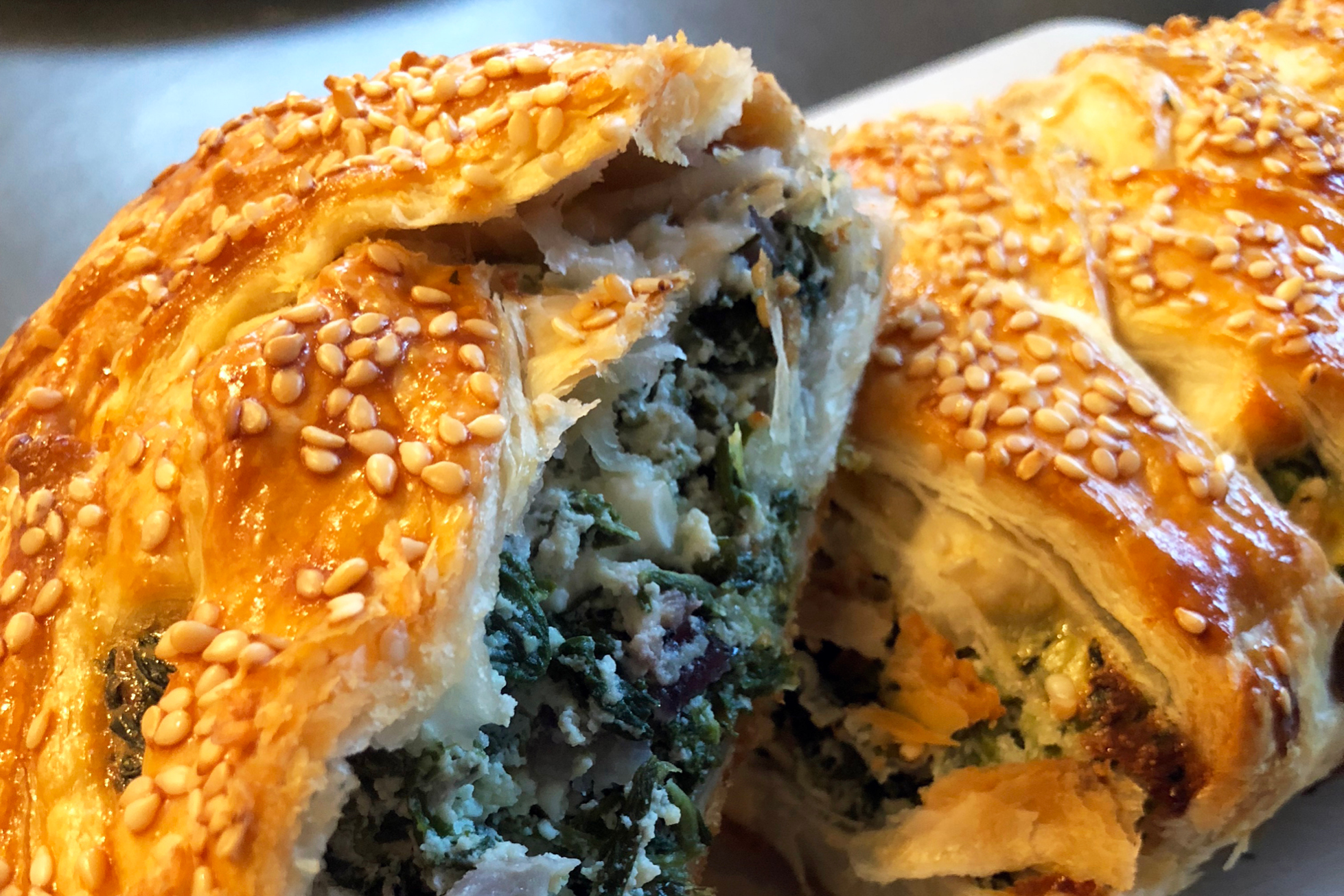 Spanakopita-sliced