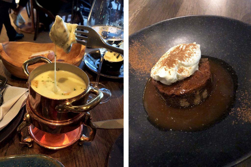 Heritage fondue and dessert