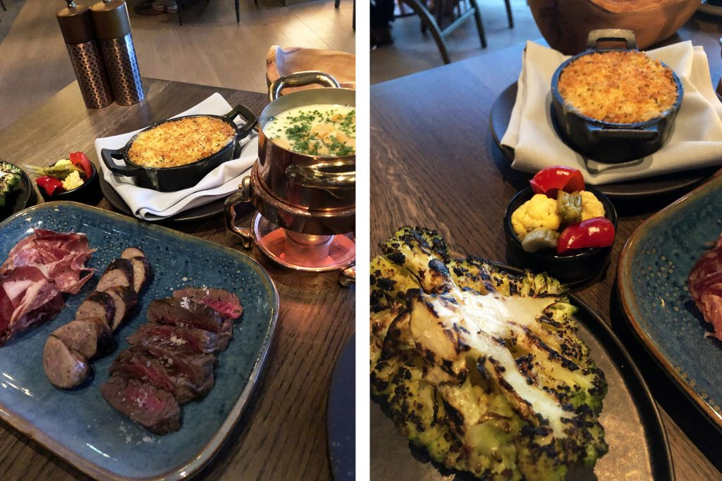 Heritage meat fondue and sides