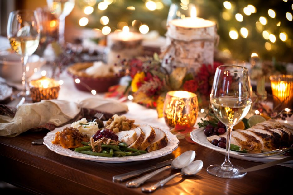festive dining table