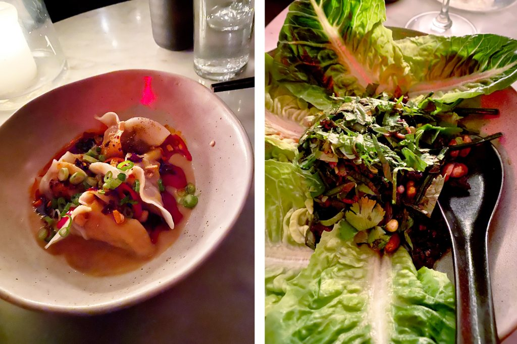 Chinese Tuxedo dumpling salad